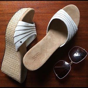 Ugg Alvina Wegg Sandals ... rare color, never worn
